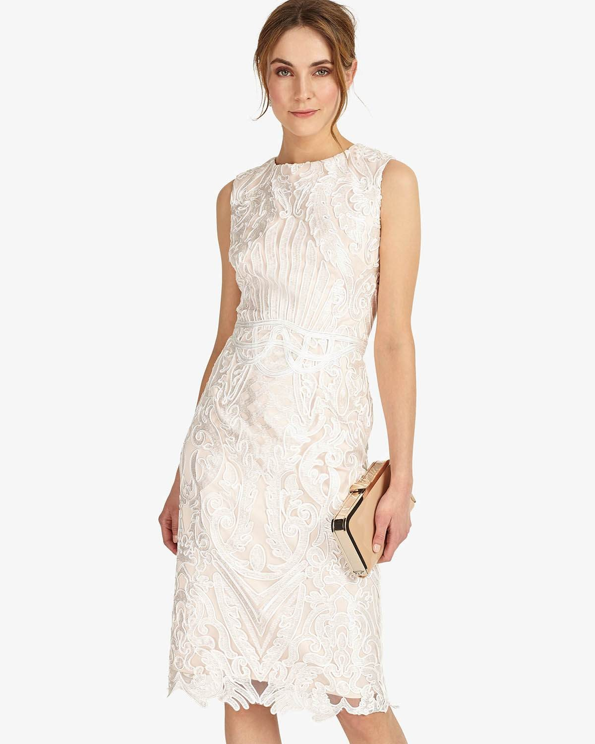 Phase Eight Devita Dress Cameo Ivory Dresses