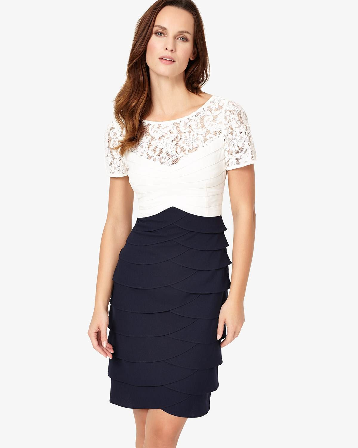 821af42ad8deb Phase Eight Navy Ivory Dresses Evie Lace Dress