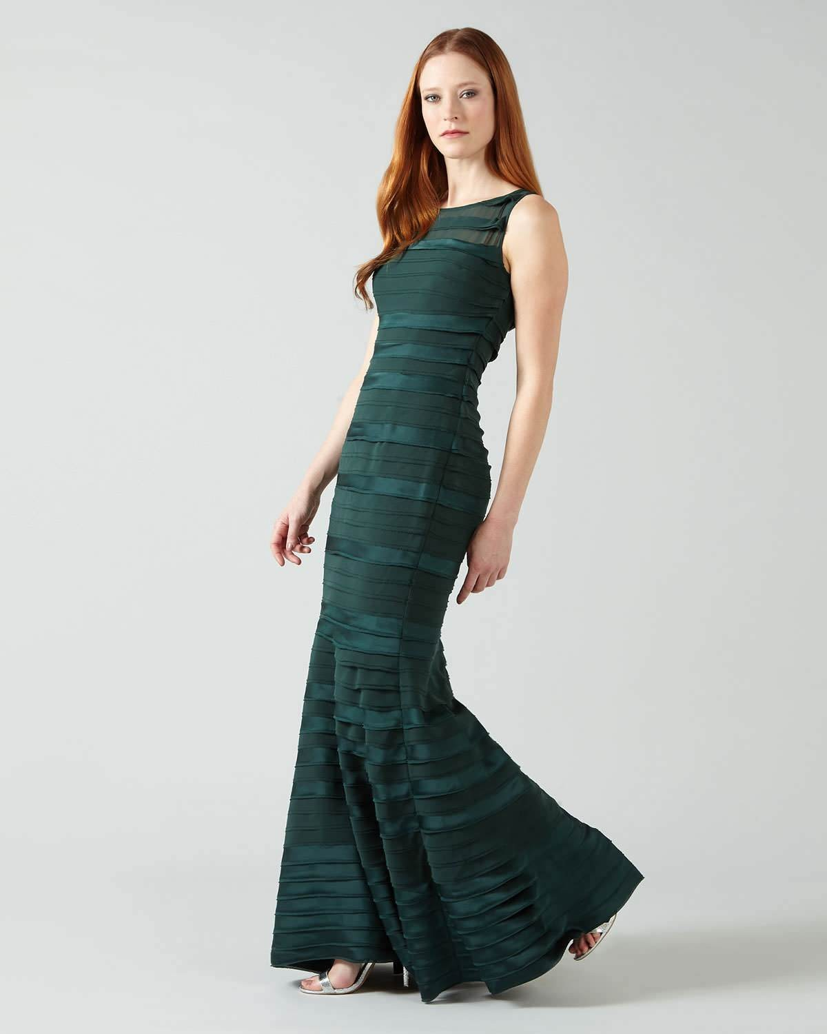 2f17c0594f71 ... Shannon Layered Full Length Dress | Emerald | Phase Eight ...