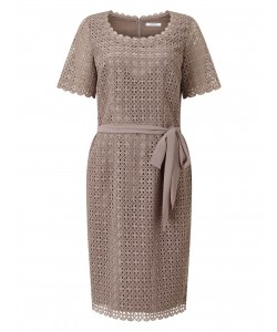Jacques Vert Circle Lace Shift Dress Mid Neutral Dresses