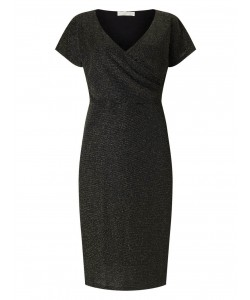 Jacques Vert Cross Front Dress Multi Black Dresses