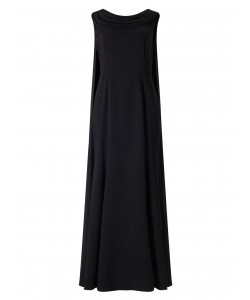 Jacques Vert Drape Cape Maxi Dress Black Dresses