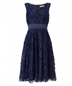 Jacques Vert Feather Sparkle Prom Dress Navy Dresses