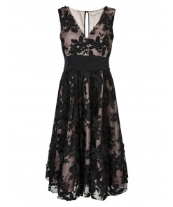 Jacques Vert Floral Applique Prom Dress Multi Black Dresses