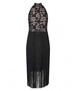 Jacques Vert Fringe Dress Black Dresses