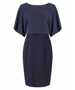 Jacques Vert Kimono Sleeve Dress Navy Dresses