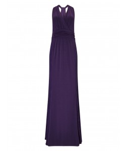Jacques Vert Lace And Jersey Maxi Dress Mid Purple Dresses