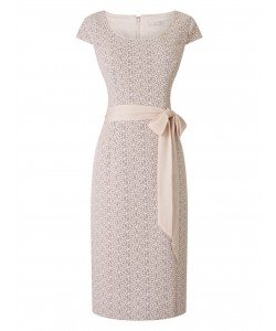 Jacques Vert Lace Panel Shift Dress Light Neutral Dresses