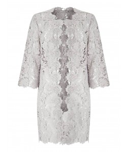 Jacques Vert Lace Shacket Light Grey Dresses