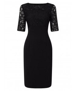 Jacques Vert Lace Top Dress Black Dresses