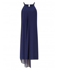 Jacques Vert Long Front Tunic Navy Dresses
