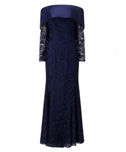 Jacques Vert Lorcan Luxury Lace Dress Navy Dresses