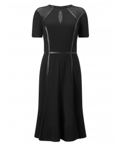 Jacques Vert Lorcan Mesh Edge Dress Black Dresses