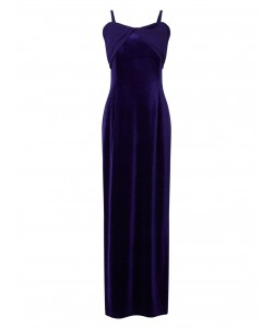 Jacques Vert Maxi Bardot Dress Dark Purple Dresses