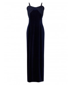 Jacques Vert Maxi Bardot Dress Navy Dresses