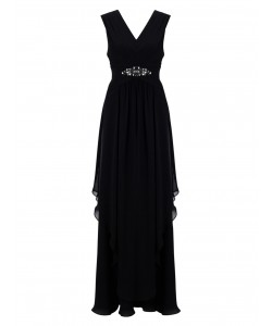 Jacques Vert Maxi Hanky Hem Dress Black Dresses