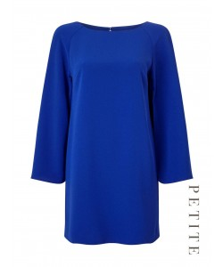 Jacques Vert Petite Split Sleeve Tunic Bright Blue Dresses