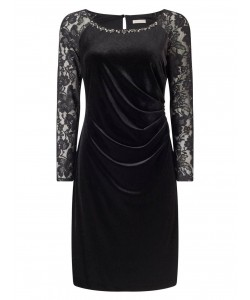 Jacques Vert Petite Velvet Dress Black Dresses