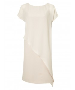 Jacques Vert Plain Crepe Dress Mid Neutral Dresses