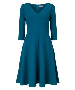 Jacques Vert Ponte Fit And Flare Dress Dark Green Dresses