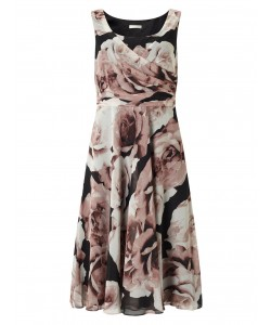 Jacques Vert Printed Prom Dress Multi Black Dresses