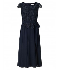 Jacques Vert Soft Fit And Flare Dress Navy Dresses