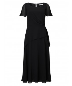 Jacques Vert Soft Tie Detail Dress Black Dresses