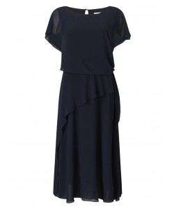 Jacques Vert Soft Tie Detail Dress Navy Dresses