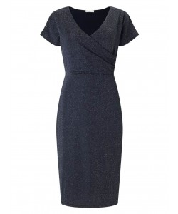 Jacques Vert Sparkle Wrap Dress Navy Dresses