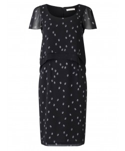 Jacques Vert Spot Layers Dress Multi Black Dresses