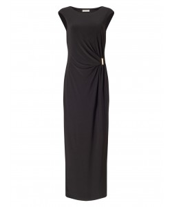 Jacques Vert Twist Front Jersery Maxi Black Dresses