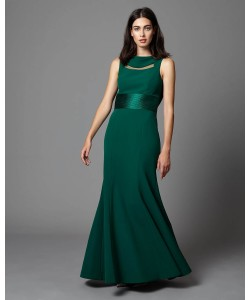 Phase Eight Alyssa Corded Full Length Dress Emerald Dresses