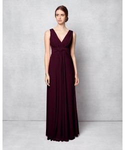 Phase Eight Arabella Full Length Dress Berry Dresses