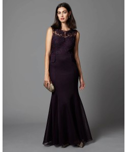 Phase Eight Arianna Peplum Full Length Dress Port Dresses