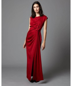 Phase Eight Aurelia Full Length Dress Scarlet Dresses