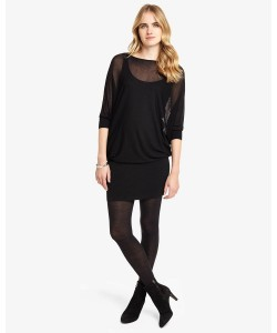 Phase Eight Becca Sheer Batwing Dress Black Dresses