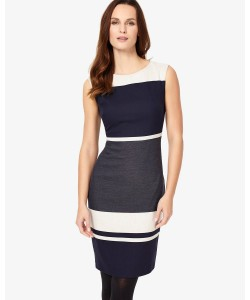 Phase Eight Blanche Colourblock Dress Navy/Grey Dresses