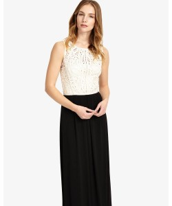 Phase Eight Bondia Full Length Dress Black/Champagne Dresses