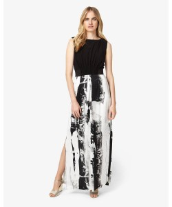 Phase Eight Claireen Printed Full Length Dress Black/Multi Dresses