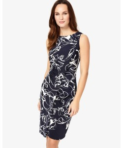 Phase Eight Clara-Mae Printed Dress Navy/Ivory Dresses