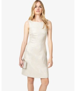 Phase Eight Danita Shimmer Jacquard Dress Silver Dresses