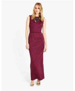 Phase Eight Deanna Full Length Dress Garnet Dresses