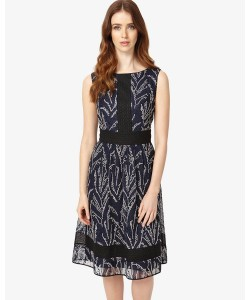 Phase Eight Delicia Embroidered Dress Navy Dresses