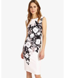 Phase Eight Eleanor Floral Dress Black/Mauve Chalk Dresses