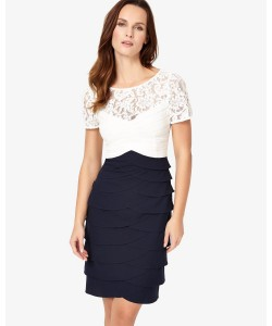 Phase Eight Evie Lace Dress Navy/Ivory Dresses