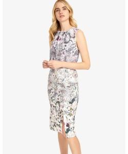 Phase Eight Evora Print Dress Multi-coloured Dresses
