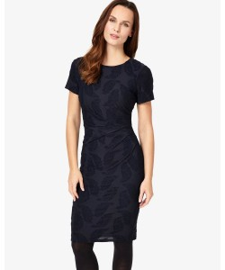 Phase Eight Feather Jacquard Dress Navy Dresses