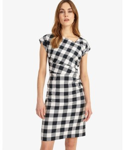 Phase Eight Jadyn Check Dress Navy/Ivory Dresses