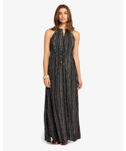 Phase Eight Kirstie Stripe Maxi Dress Black/White Dresses