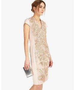 Phase Eight Laurie Embroidered Dress Soft Pink Dresses